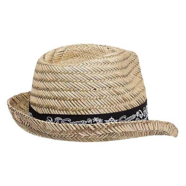 Straw Fedora Hat 3968 Back