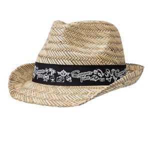 Straw Fedora Hat 3968 Front