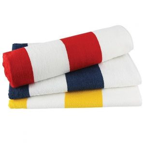 Striped Towel CAM135 Navy Red Yellow