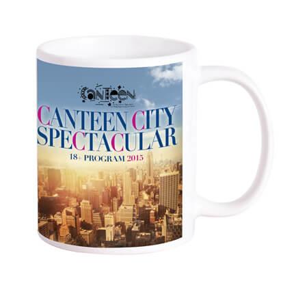 Sublimation Printed Can Ceramic Coffee Mugs