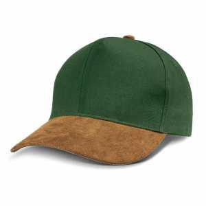 Suede Peak Cap 114372 Brown Green
