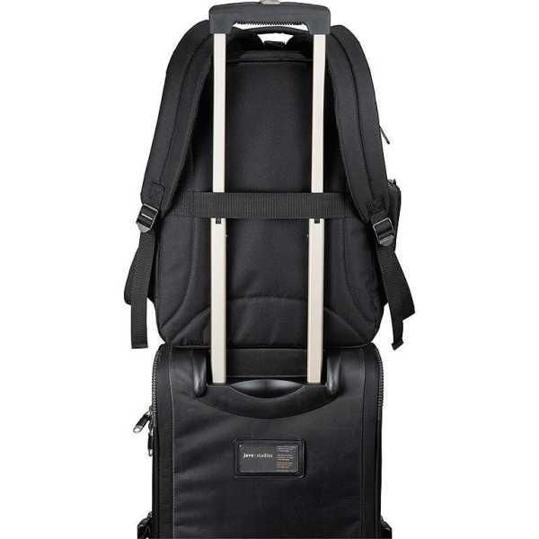 Summit TSA 15 inch Computer Backpack Black 5161BK with Trolly Sleeve