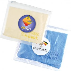Supa Cham Chamois in Pouch CALL405 Blue Yellow Branded