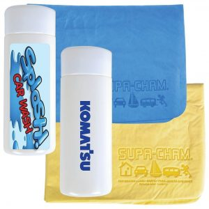 Supa Cham Chamois in Tube CALL404 Blue Yellow Branded