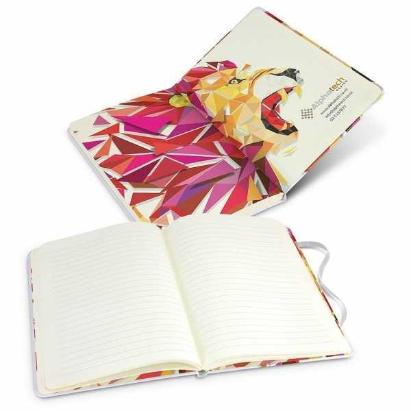 Supra Full Colour Notebook 118183 White with Full Colour Branding Inside