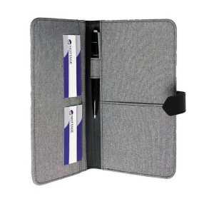 Trekk Passport Holder CATK1012GY Grey Open