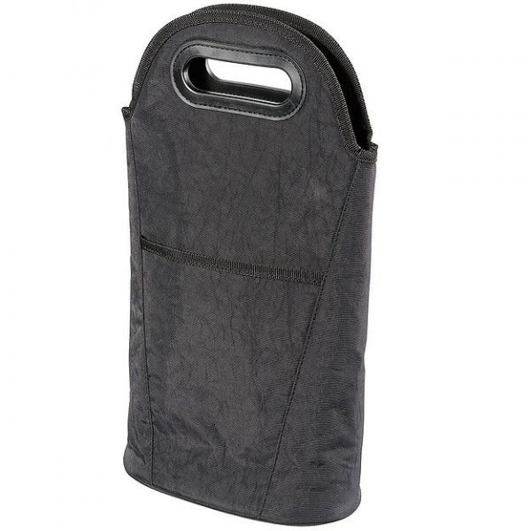 Two Bottle Insulated Wine Cooler Carrier 4280BK Black