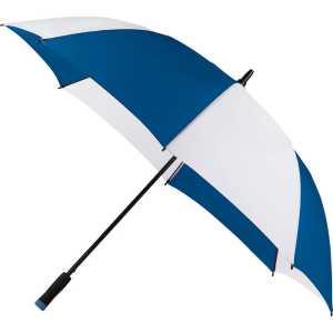Ultra Value 58 Inch Auto Open Golf Umbrella CASB1006 White Blue Side Open