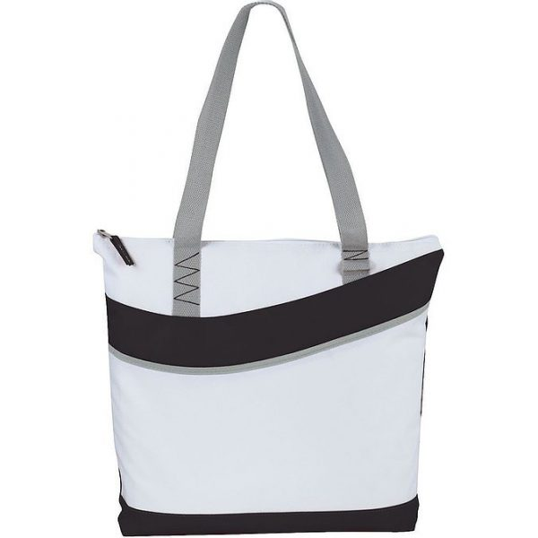Upswing Zippered Convention Tote 5065GN White Black