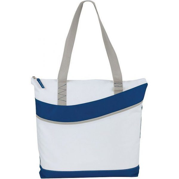 Upswing Zippered Convention Tote 5065GN White Blue
