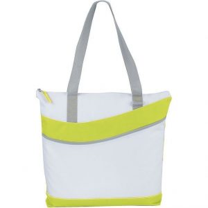 Upswing Zippered Convention Tote 5065GN White Lime Green