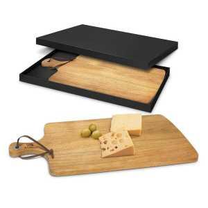 Villa Serving Board CA115951 Natural in Black Gift Box