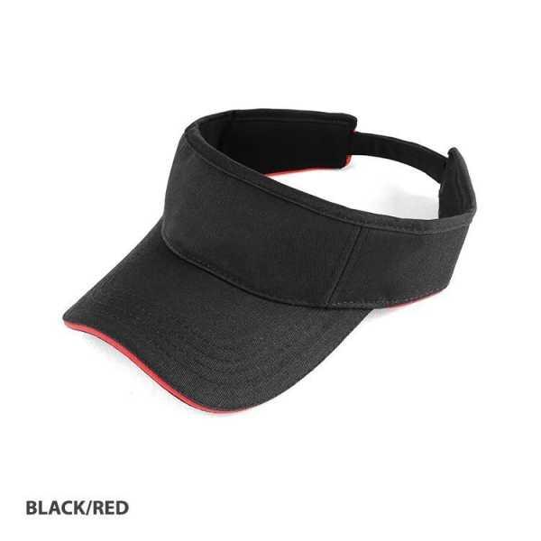 Visor Cap AH165 Black Red
