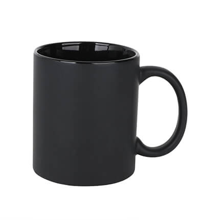 Volcano Ceramic Coffee Mugs Black