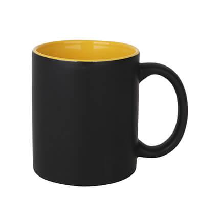 Volcano Ceramic Coffee Mugs Yellow