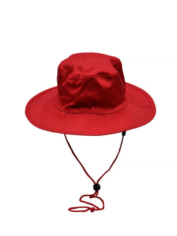 Wide Rim Hat With Breakaway Strap H1035 Red