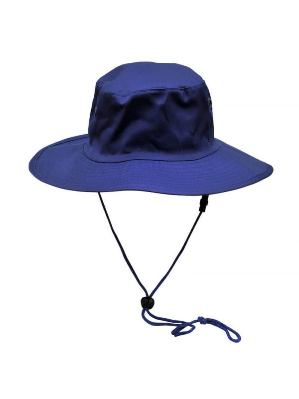 Wide Rim Hat With Breakaway Strap H1035 Royal Blue