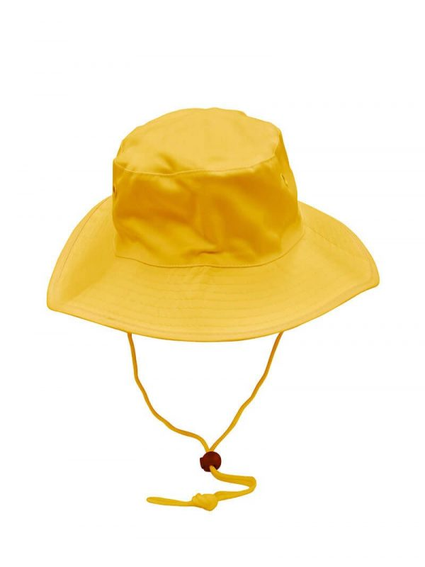 Wide Rim Hat With Breakaway Strap H1035 Yellow