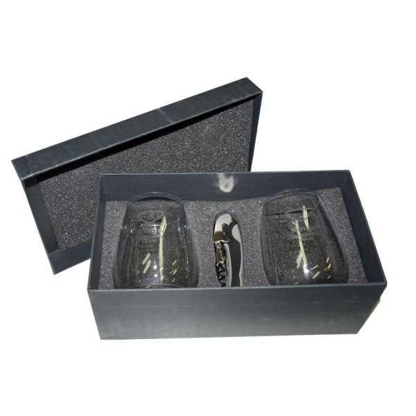 Wine Glass Set 1780CL In Black Gift Box