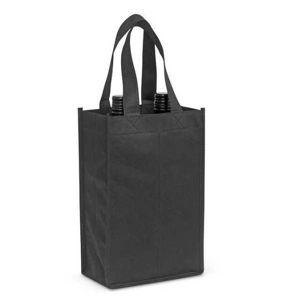 Wine Tote Bag Double 107681 Black