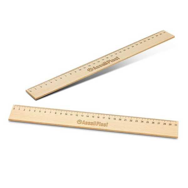 Wooden 30cm Ruler CA117337 Natural