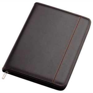 Zippered A4 Compendium 9175BK Black Front