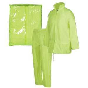 Bagged Rain Jacket Pants Set Unisex CA3BRJ Lime