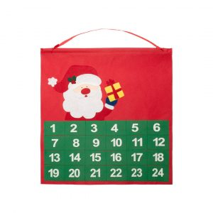 Betox Advent Calendar CAM4667 Christmas Red Green With Santa
