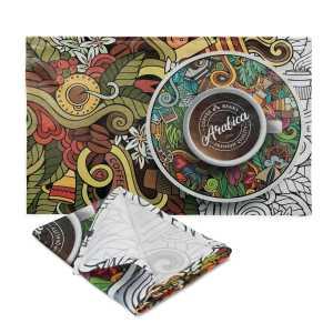 Bistro Cotton Tea Towel CA115914 Full Colour Branded