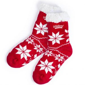 Camiz Anti Slip Christmas Socks CAM5918 Christmas Red and White