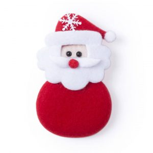 Hadock Christmas Magnet Decoration CAM5467 White Red Christmas Santa Front View