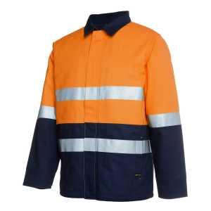 Hi Vis DN Cotton Jacket Unisex CA6HD4J Orange Navy Workwear Jacket
