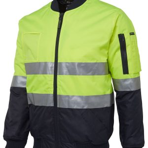 Hi Vis DN Flying Jacket Unisex CA6DNFJ Lime Navy Workwear Jacket