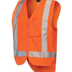 Hi Vis DN Full Zip TTMC W Vest Unisex CA6DNDT Orange Workwear Unisex Vest