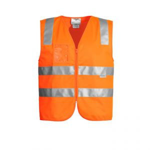 Hi Vis Full Zip Vest Unisex CAZV998 Orange Front Workwear Unisex Vest