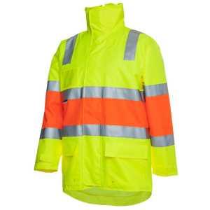 Hi Vis Longline Biomotion DN Jacket Unisex CA6DRP Lime Orange Workwear Jacket