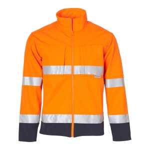 Hi Vis Safety Jacket Mens CASW29 OrangeNavy Front Workwear Jacket