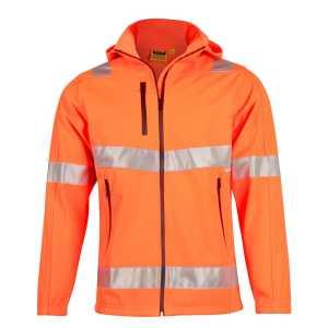 Hi Vis Safety Jacket Unisex CASW30 Orange Front Workwear Jacket