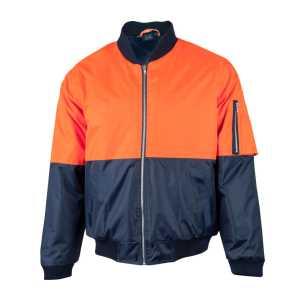 Hi Vis Two Tone Flying Jacket Unisex CASW06A Orange Navy Front Workwear Jacket