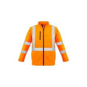 Hi Vis X Back 2 in 1 Soft Shell Jacket Unisex CAZJ680 Orange Front Workwear Unisex Jacket