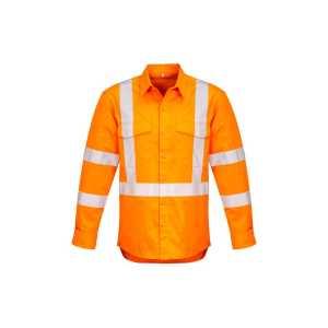 Hi Vis X Back Taped Shirt Mens CAZW690 Orange Front Workwear Mens Shirt