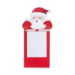Kairos Santa Fridge Magnet With Notepad CAM4810 Christmas Red and White