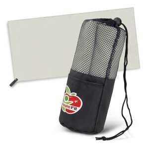 Mako Beach Towel CA117013 Grey Towel in Black Mesh Bag
