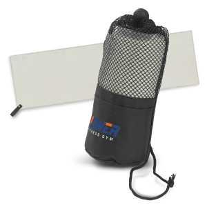 Mako Gym Towel CA117014 Grey Towel in Black Mesh Bag