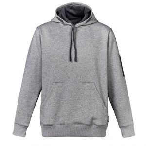 Multi Pocket Hoodie Unisex CAZT467 Grey Marle Front Workwear Unisex Hoodie