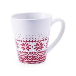 Nuglex Ceramic Christmas Coffee Mug CAM5192 Christmas White and Red
