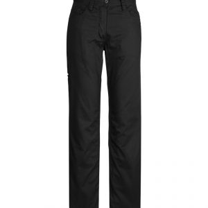 Plain Utility Pants Womens CAZWL002 Black Front Workwear Ladies Pants