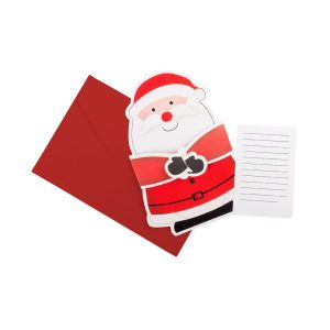 Poxtal Santa Christmas Card CAM4666 Red