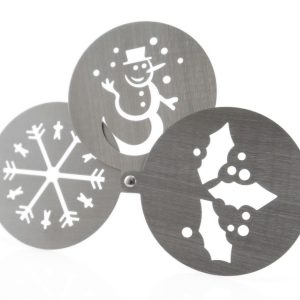 Pressox Christmas Stencils CAM4499 Stainless Steel Close
