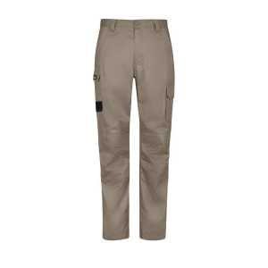 Regular Fit Summer Cargo Pants Mens CAZP145R Khaki Front Workwear Mens Pants